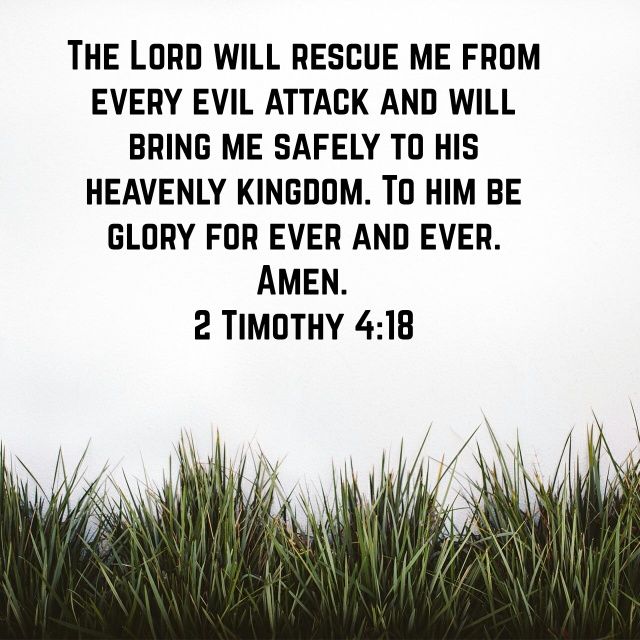the lord will rescue me
