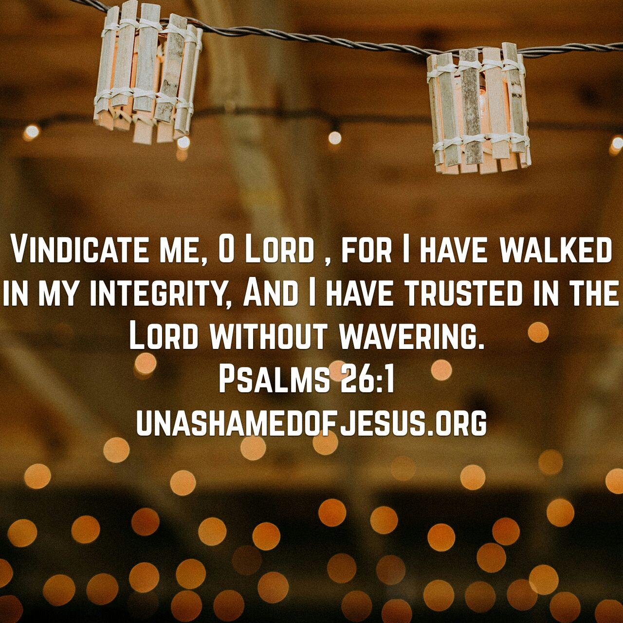 Image result for vindication psalm 26