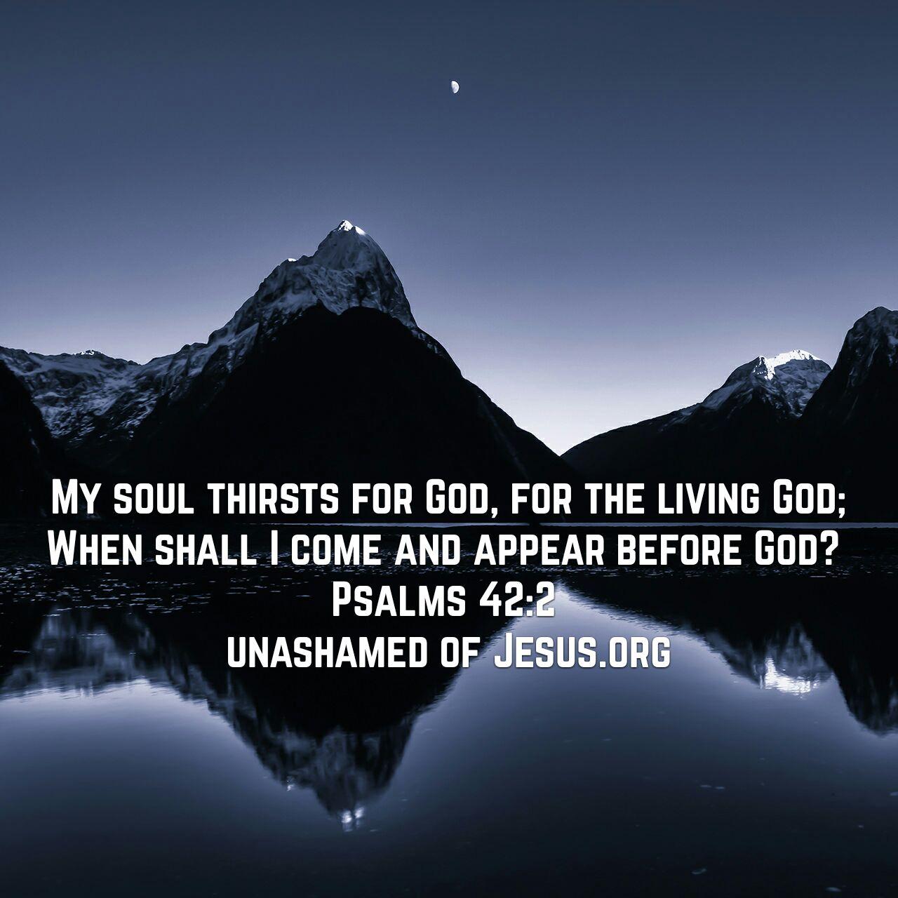 thirst for god unashamed of jesus